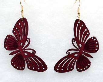 Wooden Earrings - Butterfly