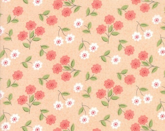Nest Fabric by Lella Boutiquee for Moda, #5062-19, Blush, Classic Blossom Peach - IN STOCK