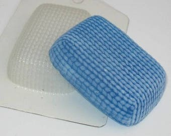 Knitted - plastic soap mold soap making soap mould molds soap mold