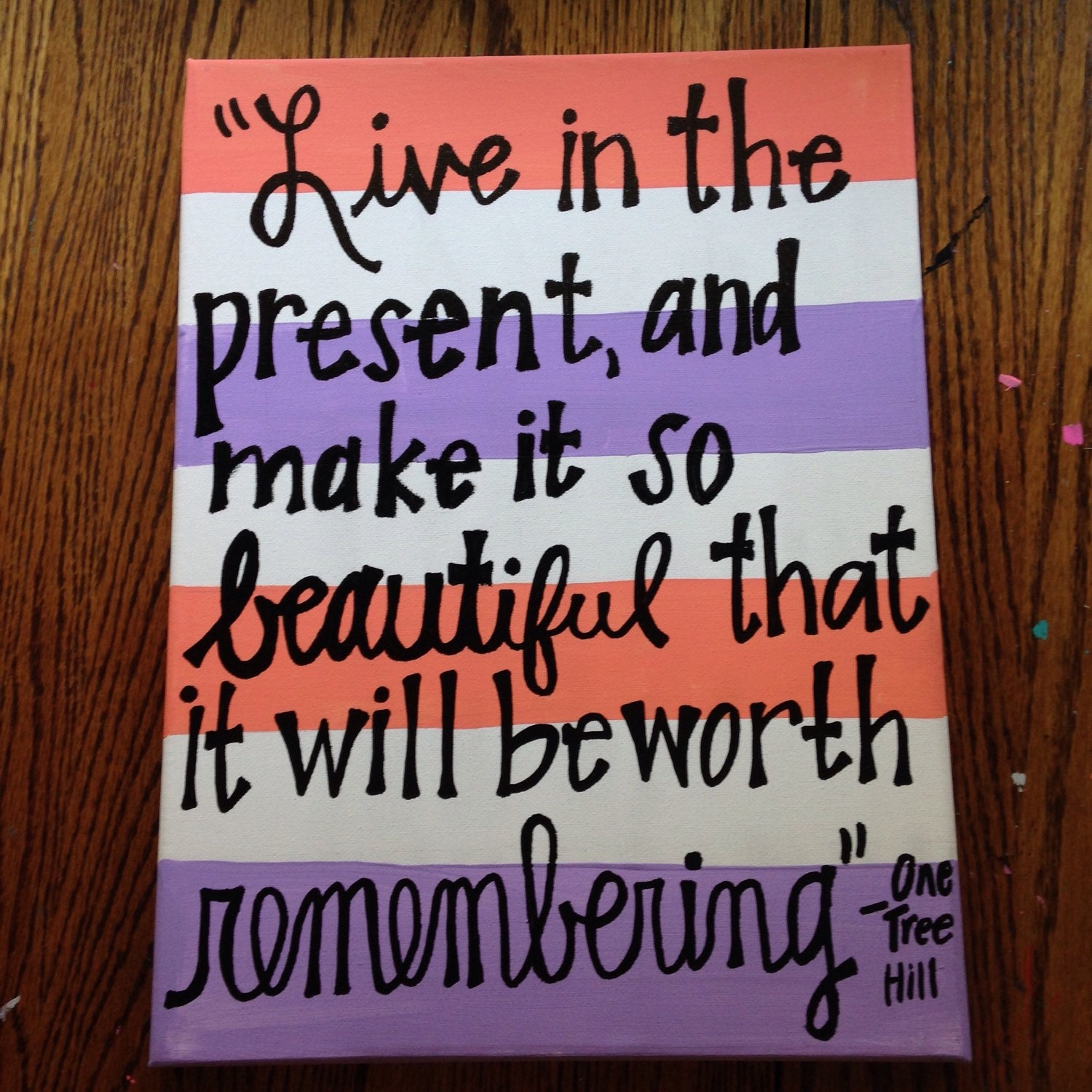 One Tree Hill Final Episode Quotes: One Tree Hill Quote Canvas