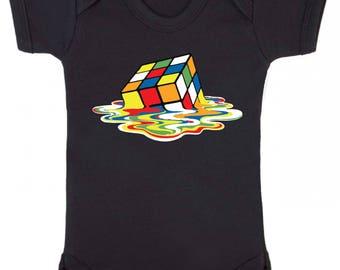Melting Rubix Cube Baby Vest