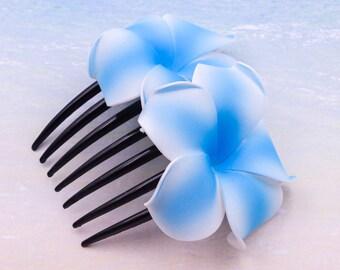 Acrylic Hair Comb,  Flower Comb, Choose The Color,  , Plumeria Flower, Beach Wedding