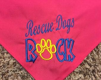 Rescue Dogs Rock Dog Bandana