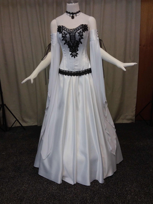 Gothic Hochzeitskleid Korsett Stahl entbeinten Korsett
