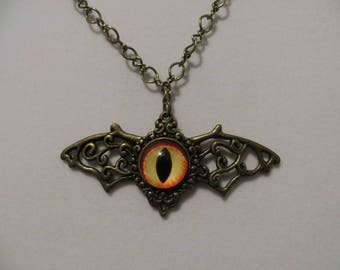 Dragon Eye Brass Necklace