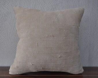 decorative kilim pillow vintage kilim pillow cushion cover anatolian kilim pillow 18x18 turkish kilim bedrrom pillow sofa pillow No 436