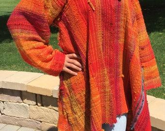 Saori handwoven jacket