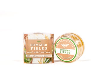 Summer Fields Mini Perfume & Cologne - All Natural - Sweet Woodlands, Earth, and Wildflowers