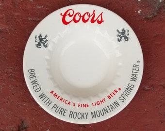 "5.75"" Coors Beer Ashtray"
