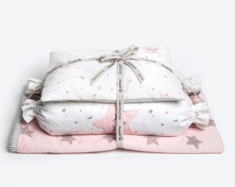 Sleepy Star-Baby Bedding Crib Set, Crib Bedding, New Baby Crib Set, Baby Gift, Baby Girl Bedding Set, Baby Bedding, Baby Girl Crib Bedding