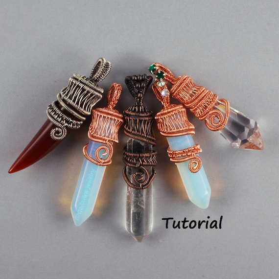 Wire Woven Crystal Point Pendant Wire Wrapped Jewelry