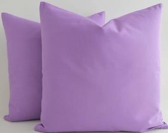 SALE ! - Light Purple Cotton Pillow Cover, Accent Pillows Light Purple Couch Sofa Toss Pillow Decorative Throw Pillow Bed Pillow Cases