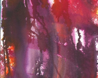 Abstract Painting - Purple, Orange, Magenta, Pink -  Ethereal .09  - Painting Gift - Art Gift - Modern Art - Home Decor - Original Art