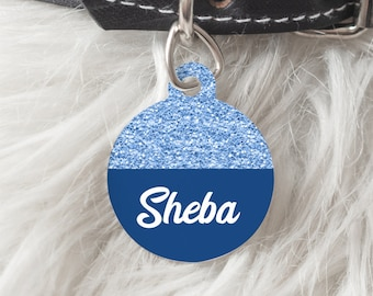 Personalised Pet Tag - Glitter Pet ID Tag - New Puppy Gift