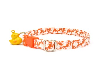 orange bunny CAT Collar with your choice of bell or charm