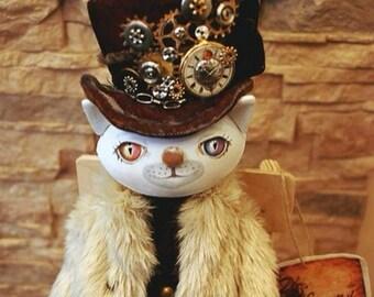 OOAK Art Doll  ''Cat Aristocrat''