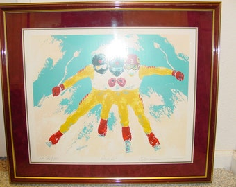 "Original Silkscreen Print -Power- by ""Ken Wesman"" Limited Edition 25/30 Signed Listed by Artist 1982"