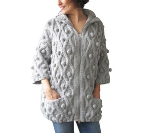 NEW! Pop Corn Cardigan with 2 pockets by Afra