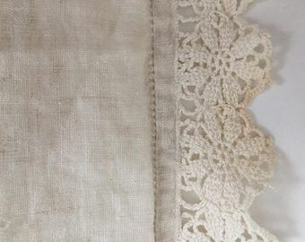 Three delicate linen pieces