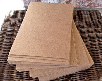 100 5 X 7 Kraft Chipboard Paper Pads made of Recycled Material and perfect for Scrapbooking, Shipping, Packaging and Altered Art