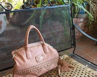 Pink Indie Chic Hobo Handbag