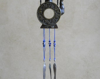 Unique Bronze Beauty--Asian Teapot Upcycled into a Windchime
