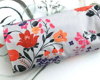 Stiff roll, brush roll, gift for her, make-up bag, Makeup Brush Roll, Rollmäppchen No. 310