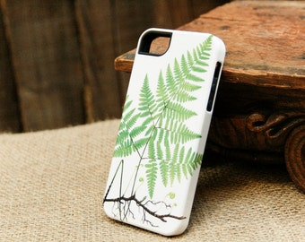 iPhone 7 Case Woodland Fern iPhone Case, Botanical iPhone 6S, iPhone SE, Galaxy S6 / S7, iPhone 7 Plus Case