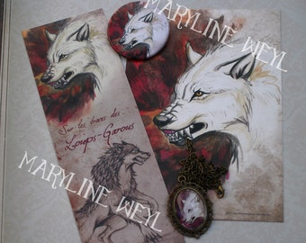 """pretty magical thing """"Werewolf, white and Red"""""""