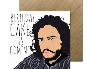 Funny Jon Snow Card • Winter is coming Birthday Card • Jon snow  • Funny GOT Card • Game of Thrones Birthday card • You Know Nothing • GOT
