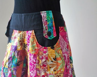 Patchwork short,tribe woman shorts,festival shorts,Boho pants,Festival pants,Boho shorts,Hippie shorts,Unique woman shorts,bohemian,funky