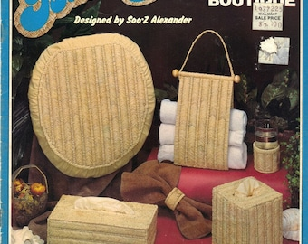 Needlepoint Basketry Bath Boutique - Soo-Z Originals Pattern Leaflet