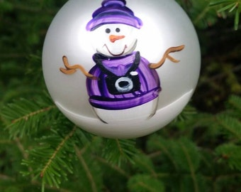 Photographer Personalized Snowman Christmas Ornament Handpainted Gift