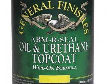 General Finishes Arm-R-Seal Topcoat Satin,Gloss,Semi-Gloss- Pint, Quart, Gallon Oil Based