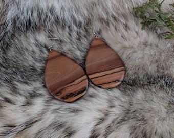 Black Walnut Earrings by One Earth Exchange