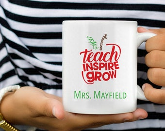 Personalized Teacher Coffee Mugs, Teacher Mug, Teacher Gift