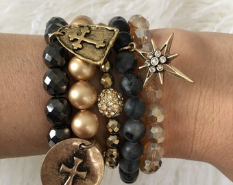 The Fly Me To The Moon Bracelet Stack