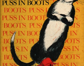 Puss In Boots + Paul Galdone + 1976 + Vintage Kids Book