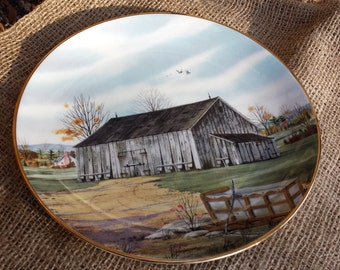 "1983 ""Southern Tobacco Barn"" Plate"