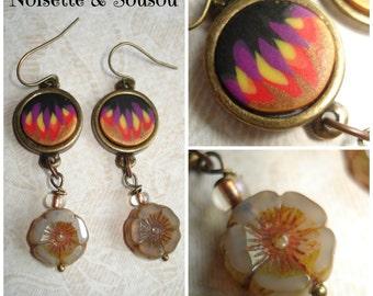 Retro art deco style earrings