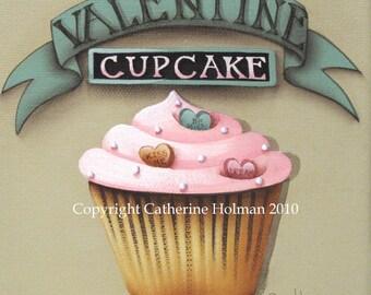Cupcake Art Print Valentine Day Square
