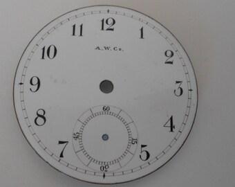 Ameriacan Waltham Pocket Watch Porcelain Dial Original 46MM(35) Like new