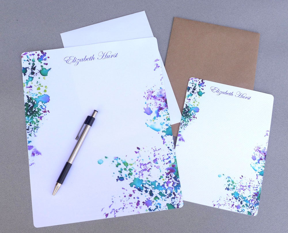 Letter writing stationery with envelopes