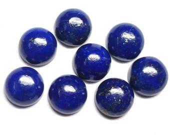 10 pcs 7mm lapis lazuli cabochon, natural lapis lazuli round cabochon gemstone, Lapis Lazuli Cabs Round 7mm, lapis lazuli cabochon round