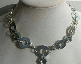 Metal washer Handmade Necklace