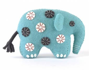 Blue elephant felt Kit