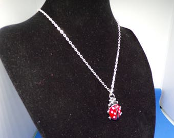 Child's Ladybug pendant necklace