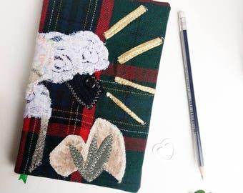 Sheep handmade journal notebook, unique unlined nature junk journal,pretty custom notebook, nature lover book diary, cool travel journal