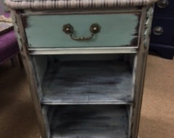 Taupe ~~ Seaglass Green ~~ Creamy White~~ Night Stand