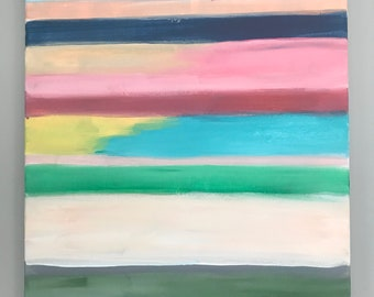Original Abstract Painting, Original  Landscape Painting, beach painting, Abstract Landscape, Stripes Art, Contemporary art, Modern Art